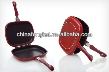 32cm Dessini Double Fry Pan With Non Stick Coating Buy Dessini Double Fry Pan Divided Frying Pan Frying Pan With Basket Product On Alibaba Com