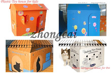 high quality plastic pet house / pp corrugated plastic pet house for kids / plastic toy house for pet