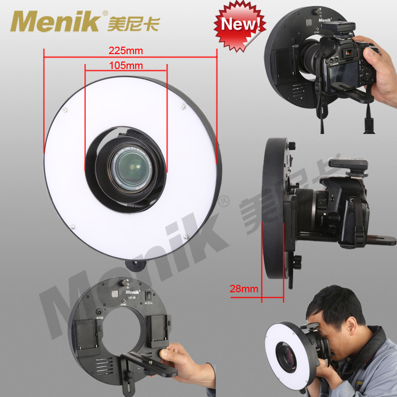 LH-36 LED ring camera light,Ultra-thin flash/light,12v