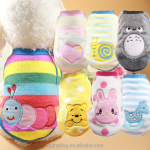 hot cute warm fabric lovely cartoon embroidery cat monkey pet clothes dog for rabbits