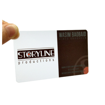 CR80 PVC Blank Transparent Business Cards