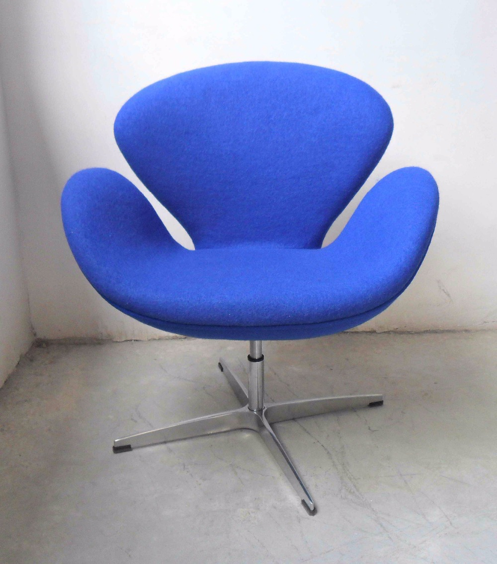 Moderne Wohnzimmer Möbel Fiberglas Sessel Leder Swan Chair Replica