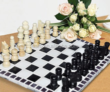 Black and white funny DIY mosaic chess game craft kit
