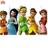 ICTI manufacture 3D custom plastic noddy soft toy,Tinker bell and the lost treasure