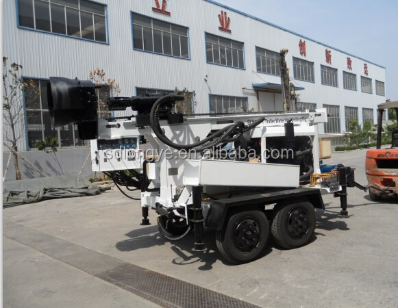 portable trailer Water Well Drilling rig bore hole drilling rig SPT test SLY400-T manufacturer