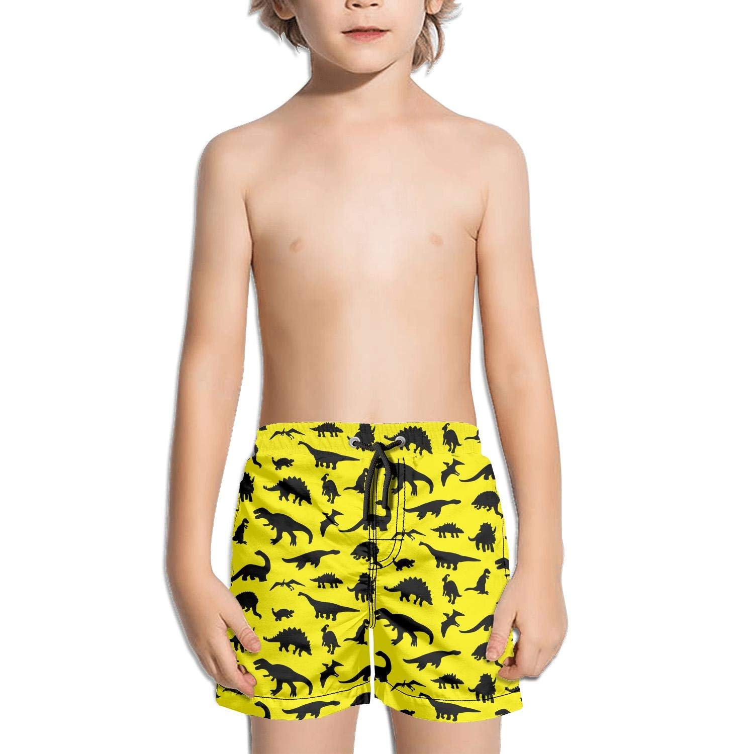 3237a2178a73a Get Quotations · FullBo Tiny Pink Dinosaurs Fossils Party Animal Print  Little Boy's Short Swim Trunks Quick Dry Beach