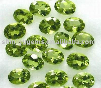 fashion dazzling olive oval cut gemstone cubic zirconia in low price