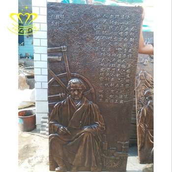 Outdoor Garden Home Relief Wall Decor Metal Craft New Product Cast Forging Bronze Ancient Celebrities Sculpture