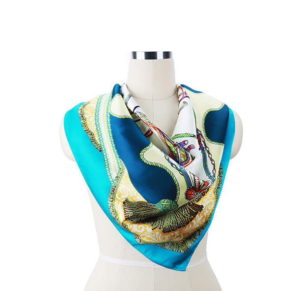 Wholesale 100% Silk Square Twill Silk Scarf For Ladies