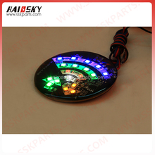 HAISSKY motorcycle parts spare accessories flashing brake light 12v led colorful flashing lights