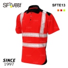 new design 100%polyester hi visibility reflective safety shirt for men microfiber breathable fry fit polo shirt workwear uniform