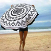 Double layer Diameter 150 cm Watermelon shaped custom printed Microfiber Round Beach Towels