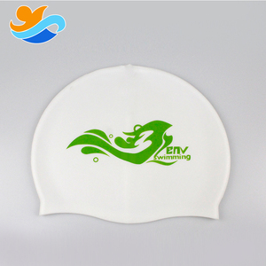 Specially Designed Long Hair silicone polyester swim cap