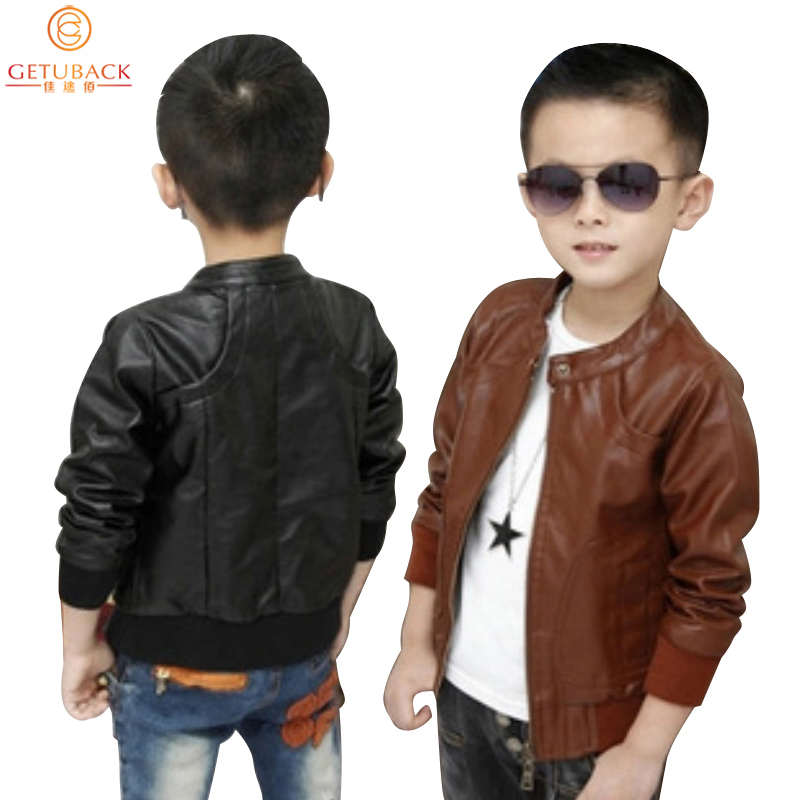 d0134b0a Buy 2015 New Boys Coats Faux Leather Jackets 2 Colors Children Fashion  Outerwear Spring & Autumn & Winter, MC031 in Cheap Price on Alibaba.com