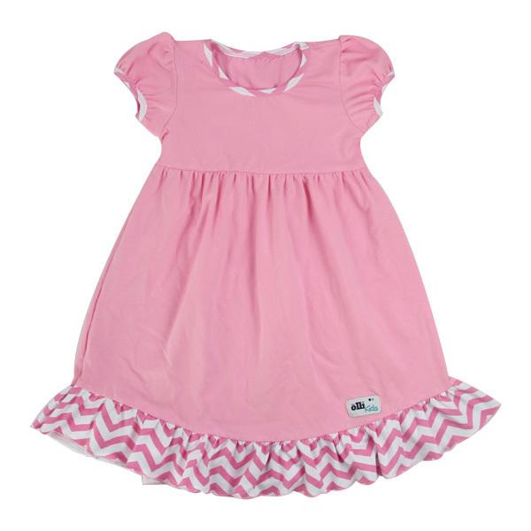 bf8c12238c3 Latest frock designs 3 year old girl dress children girl dress baby girl  summer pink ruffle