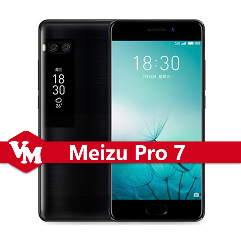 Original Meizu Pro 7 Pro7 Mobile Phone 4GB 64GB 5.2 Inch FHD Screen Helio P25 Octa Core mTouch ID Fast Charge Cell Phone
