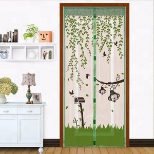 Mark-down sale proofing breathable mosquito net pvc door