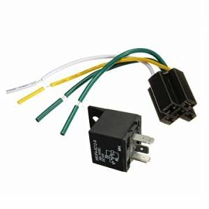 IMC AUDIO 12 VOLT 5 WIRE SPDT BOSCH//TYCO STYLE CAR AUTO RELAY SOCKET HARNESS 100