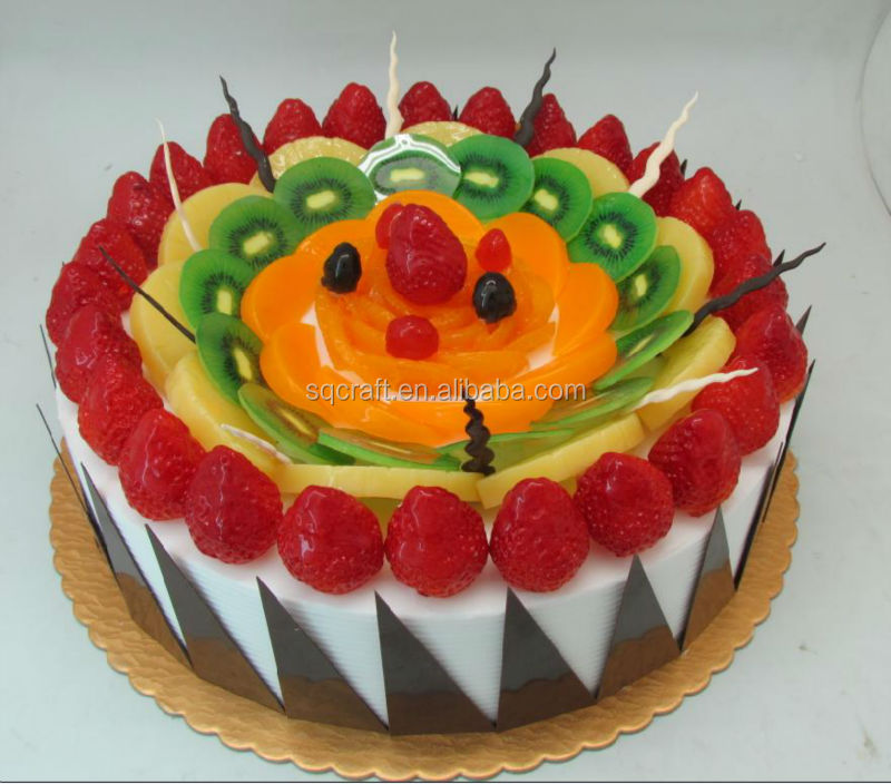 2014 New 3d Simulation Birthday Cake Prop For Wedding Party Display