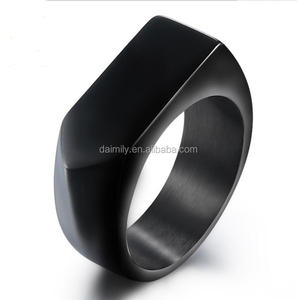 Titanium ring brief design fashion punk style black anchor ring DM 291