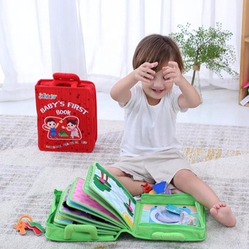 Jollybaby Baby's First book Best Educational Montessori Book Early Learning preschool material for Boys and Girls