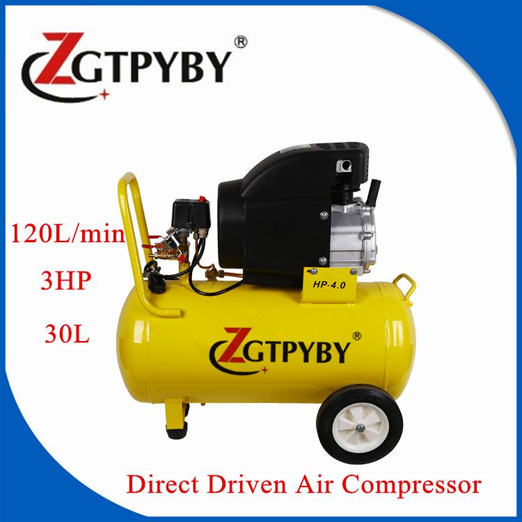 8bar 30l Direct Driven Piston Silent Air Compressor For Sale