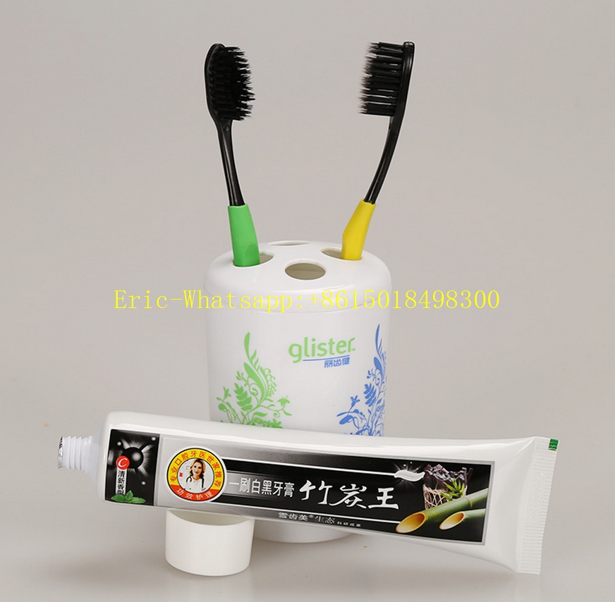 bamboo charcoal toothpaste luscao factory offers 105g ODM/OEM Natural Black Bamboo Charcoal Toothpaste for Teeth Whitening