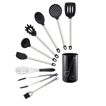 10 Piece Silicone Kitchen Cooking Utensils Set With Holder SW-CT195
