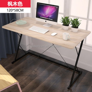 Computer Desk Metal Frame Office Laptop Desk MDF Table Top Without Keyboard  Tray