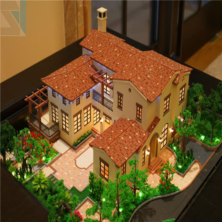 3d design model with led light commercial office building for 3d house model maker