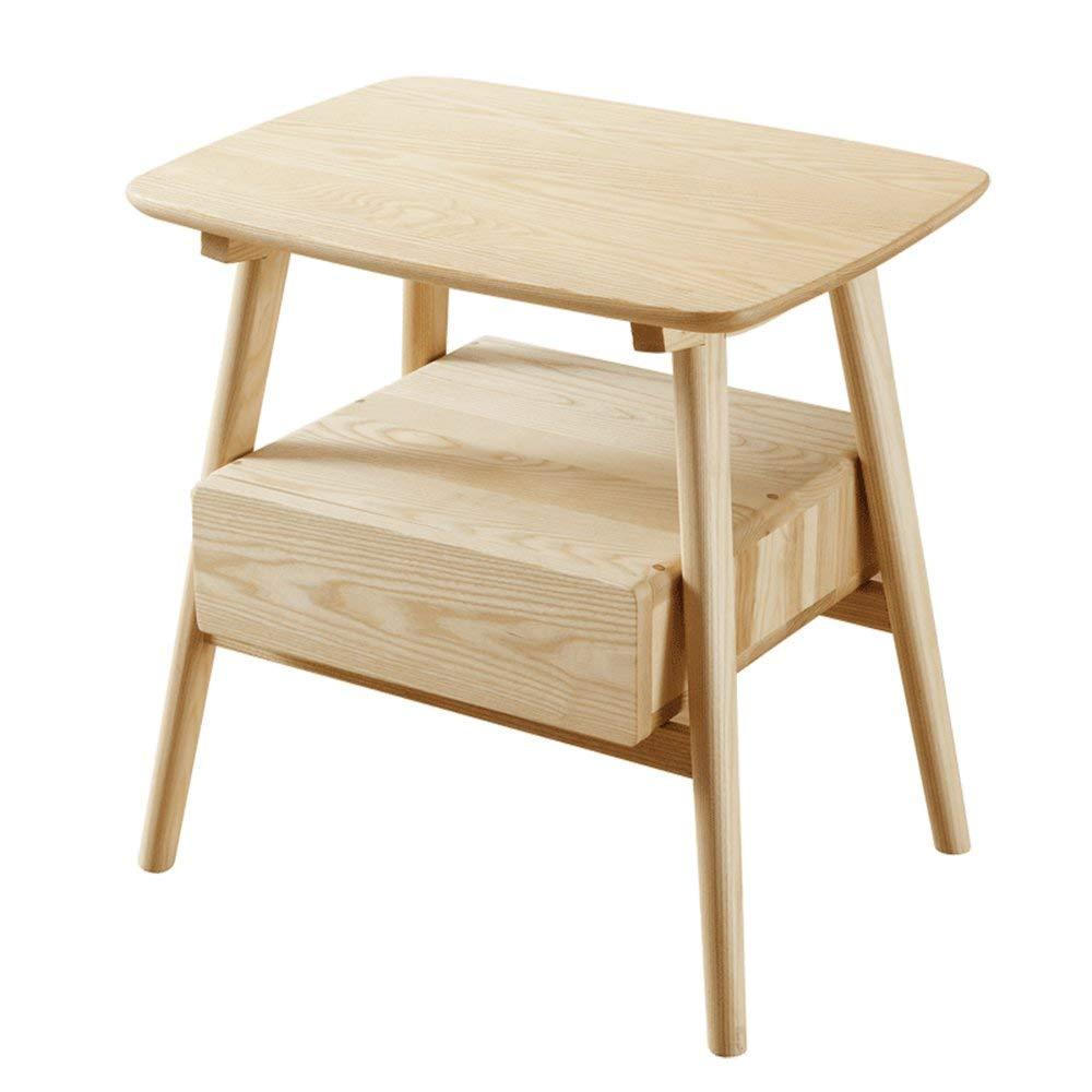 PM-Nightstands Solid Wood Lockers Bedroom Nightstand Bedside Cabinet Eco-friendly Furniture(60 45 60cm)