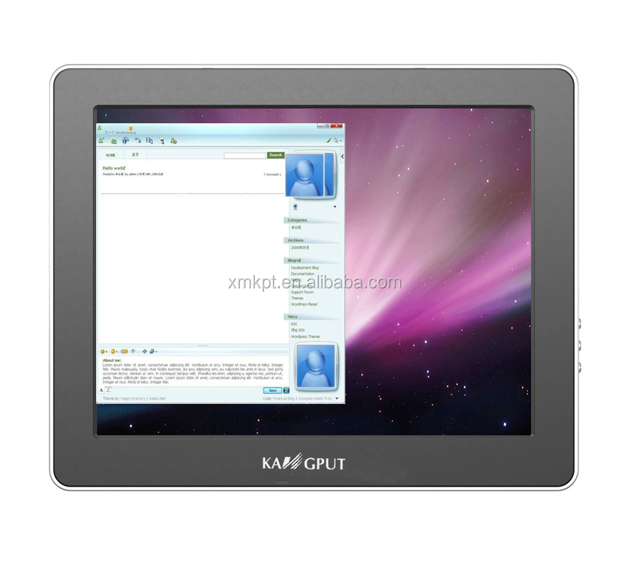 "9.7"" USB <strong>Monitor</strong> with USB & HD-MI input iOS/Android Device with HD-MI SYNC Output(UM-900C)"