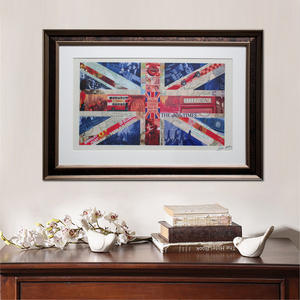 Contemporary nice wall art USA and UK national flag pcicture cheap china canvas prints