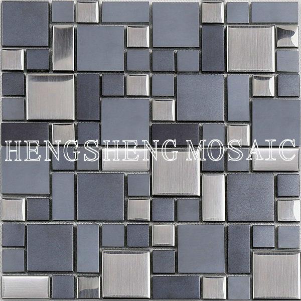 gris azulejos de mosaico de vidrio para la cocina