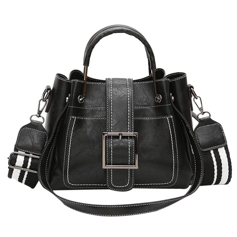 Clearance Deals Women Shoulder Bag, TOOPOOT Lady Vintage Leather and Canvas Women's Satchel Shoulder Bag