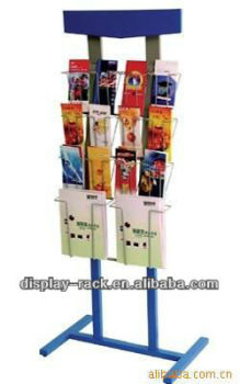 Free Standing Magazine Rack Brochure Holder Office Paper Stand Holder  HSX 884