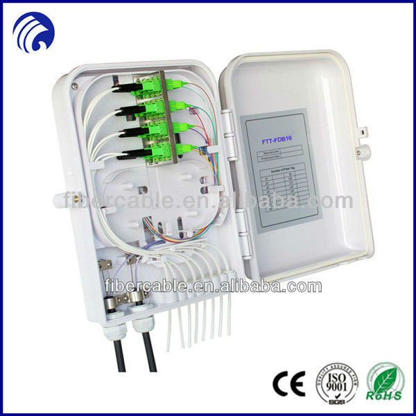 FTT-FDB16 FTTH outdoor 16 port wall/pole mounted fiber optic terminal box