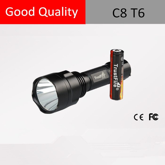 Rechargeable torch light price TrustFire C8 XM-L T6 1000 Lumens High Power Torch LED Flashlight Torch light for kids adults