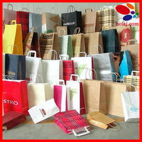 Big kraft paper bag with handle horizontal Multifunction wedding party bag cloth gift paper bags