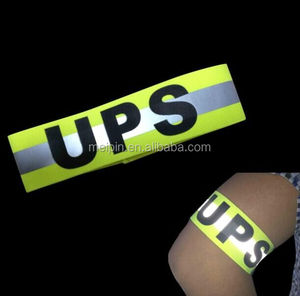 custom highly reflective logo printed armband with cheap price, custom/design trademark with highly reflective