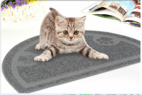 Waterproof and anti-skidding semicircle shape pet mat/pet feeding mat/cat toilet mat