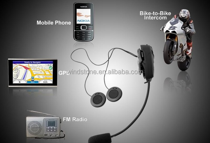 High quality 500meters intercom range motorcycle wireless bluetooth headset