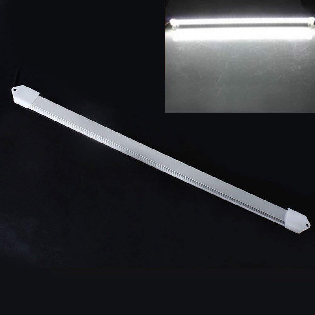 Ragdoll50 Cabinet Light Strip, 1pc Waterproof 50cm 9W 5630 SMD 800 Lumen LED Waterproof Rigid Strip Cabinet Light DC 12V(501.2CM,White)
