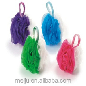 High quality new design colorful cleaning body bath mesh sponge