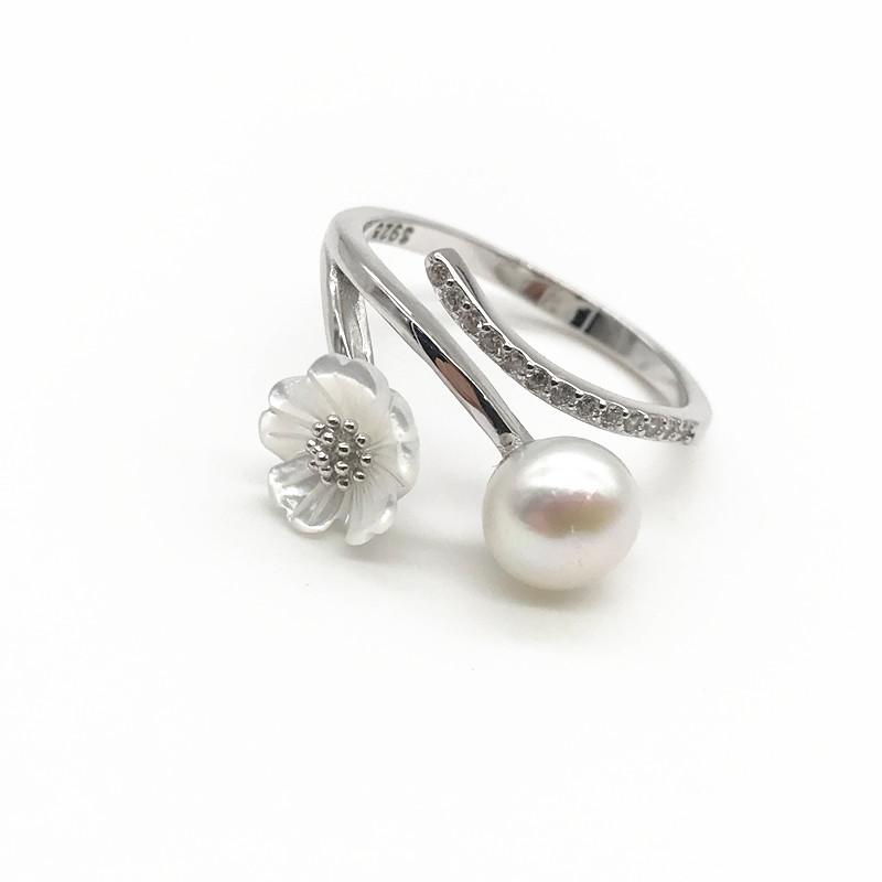 2019 fashion jewelry customized engagement sterling silver pearl ring settings