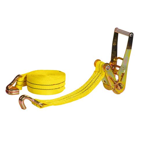 Double J-hooks 3t 2 inch cargo lashing ratchet tie down