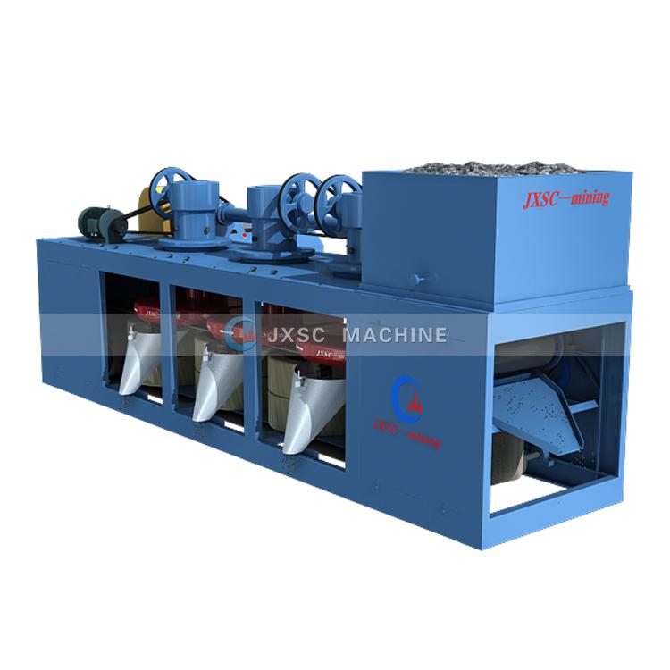 JXSC Лидер продаж Высокоэффективная Золотая железная руда 3 шт. дисковый магнитный сепаратор машина для сепарации магнетита песка железа