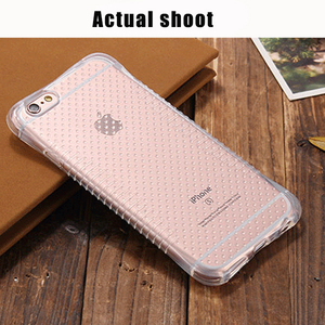 Wholesale crystal clear transparent soft TPU drop resistant shockproof cell phone case cover for iPhone 6