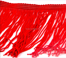 FASHIONABLE rayon long tassel fringe used for clothing