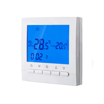 Weekly programmable button thermostat with Wifi function